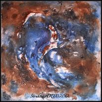 Tusche, Zeitgenössische kunst, Pigmente, Blau