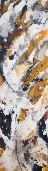 Acrylmalerei, Schwarz, Schüttbilder, Ocker