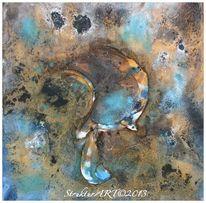 Beize, Pigmente, Zeitgenössische kunst, Blau