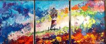 Nordsee, Bunt, Leuchtturm, Surreal