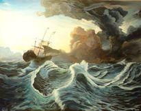Wolken, Meer, Sturm, Segel