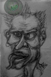 Zeichnung, Freak, Bleistiftzeichnung, Zeichnungen