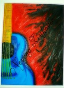 Gittare, Malerei, Gitarre