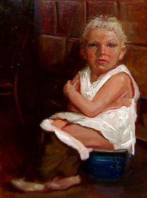 Malerei, Portrait, Euro, Selbstportrait