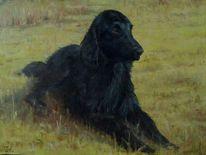 Ölmalerei, Portrait, Hund, Tiere