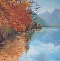 Herbst, Natur, Wasser, Malerei