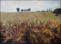 Impressionismus, Malerei, Feld, Sommer