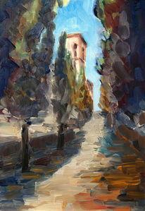 Impressionismus, Toskana, Malerei, Ölmalerei