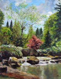 Landschaft, Stein, Realismen, Garten