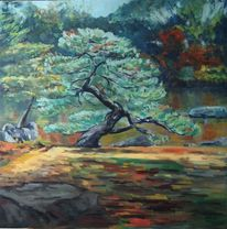 Ölmalerei, Impressionismus, Natur, Vegetation