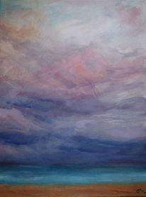Impressionismus, Landschaft, Wolken, Meer