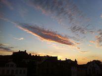 Wolken, Sonne, Sonnenuntergang, Stadt
