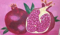 Malerei, Pflanzen, Granatapfel