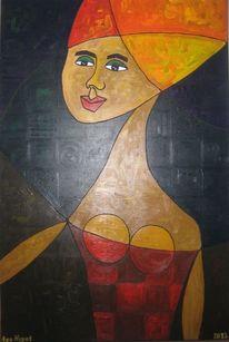 Malerei, Comic, Frau, Turban