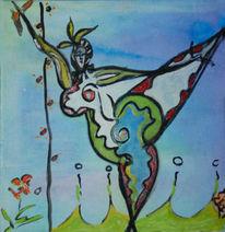 Tanz, Blüte, Nana, Malerei