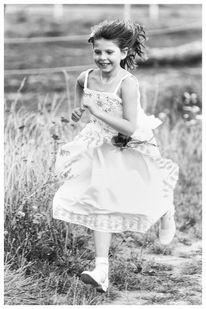 Bewegung, Kind, Schwarzweiß, Mädchen