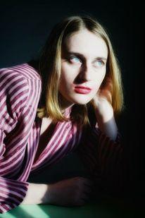 Frau, Portrait, Sonnenlichts, Lippenstift