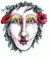 Neugier, Augenblick, Frau, Illustrationen