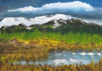 Malerei, Berge