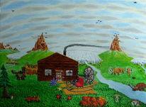 Zeitmaschine, Berge, Fluss, Wollnashorn