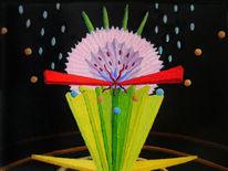 Synästhesie, Abstrakt, Ölfarben, Malerei