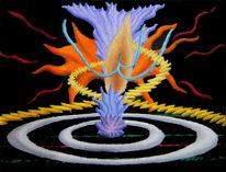 Abstrakt, Ölfarben, Malerei, Synästhesie