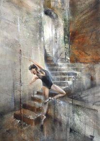 Tanz, Ballett, Treppe, Balance
