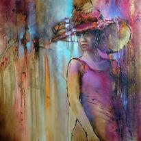 Zart, Ölmalerei, Haltung, Ausdruck