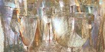 Lichtspiel, Strahl, Vase, Stillleben