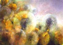 Pusteblumen, Löwenzahn, Malerei, Blumen
