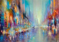 Gemälde, Horizont, Säule, Freiraum