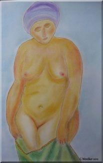 Figur, Frau, Akt, Brust
