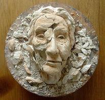 Expressionismus, Demenz, Skulptur, Frau