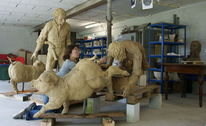Skulptur, Schinderhannesgruppe, Realismus, Menschen