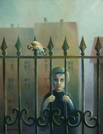 Symbolik, Grenze, Kind, Ölmalerei