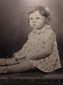 Fotorealismus, Menschen, Ölmalerei, Kind