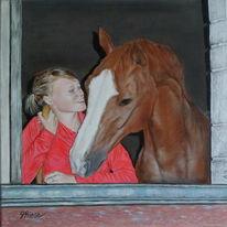 Portrait, Tiere, Menschen, Fotorealismus