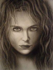 Ölmalerei, Portrait, Menschen, Frau
