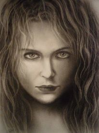 Menschen, Frau, Malerei, Ölmalerei