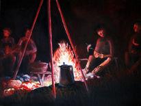 Lagerfeuerromantik, Malerei