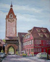 Kinzigtorturm, Engel gengenbach, Gebäude, Malerei