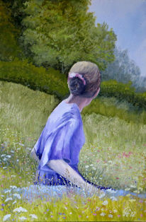 Menschen, Erinnerung, Frühling, Malerei