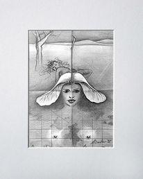 Illustration, Mischtechnik, Skizze, Zeichnung