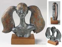 Zopf, Keramik, Haare, Frau