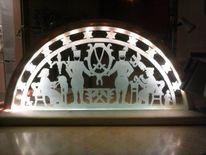 Kunsthandwerk, Glas, Schnitzkunst, Licht