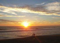 Menschen strahlen, Abendstimmunf, Atlantik, Meer