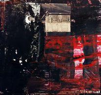 Verborgen, Rot schwarz, Spannung, Frau