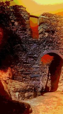 Kreta, Dorf, Fotografie, Digitale kunst