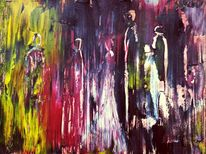 Malerei, Unterwegs, Menschen