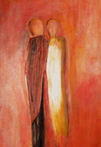 Paar, Innig, Geborgen, Malerei